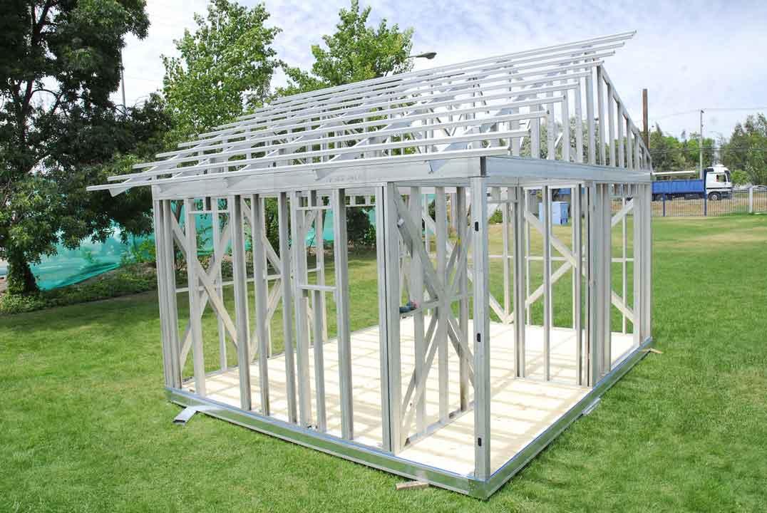 sistema construcción en seco con steel framing