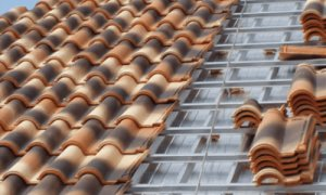 perfilería metálica para exteriores en tejados