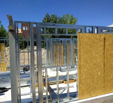 Perfilería metálica de acero para edificaciones sostenibles
